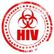 Aids virus concept background - stock illustration