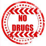 No drugs sign Stock Illustration