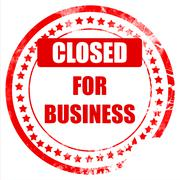 Closed for business - stock illustration