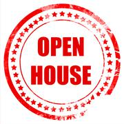 Open house sign Stock Illustration
