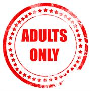 Adults only sign Stock Illustration