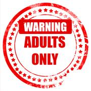adults only sign - stock illustration