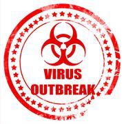 virus concept background - stock illustration