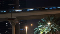 Night metro in southern city Stock Footage