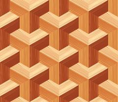 Parquet 3d Seamless Floor Pattern Stock Illustration