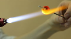 Producing of glass bead, ninth video Stock Footage