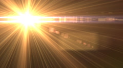 4k Light Flare Overlay Animation in Two Positions Stock Footage