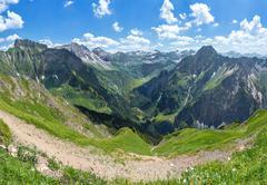 Allgau Alps with Hoefats - stock photo
