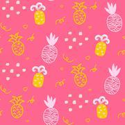 Stock Illustration of Baby pattern design. Nursery kid background