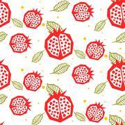 Stock Illustration of Pomegranate pattern. Seamless ornament