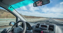 Driving on a highway on a beautiful day Stock Footage