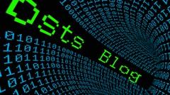 Blog post data tunnel - stock footage