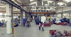 Inside of a factory. Industrial Plant Arkistovideo