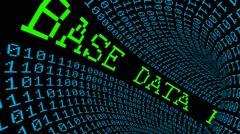 Data base tunnel Stock Footage