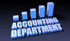 Accounting department Stock Illustration