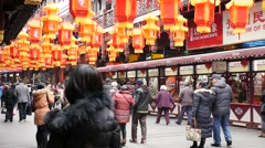 Lantern Festival in the Chinese Lunar New Year Stock Footage