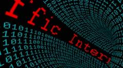 Internet traffic data tunnel Stock Footage