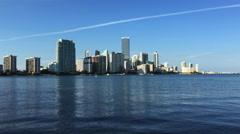 4K UltraHD Real time of the Miami, Florida skyline - stock footage