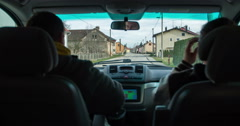 Driving through town Stock Footage
