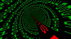 Website hacked data tunnel Stock Footage