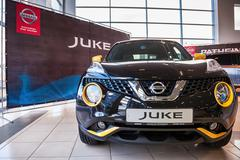 Presentation Nissan Juke at the office of official dealer Nissan - stock photo