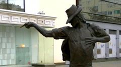 Monument to Michael Jackson at Yekaterinburg Stock Footage