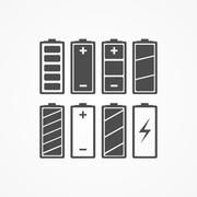 Battery charge icons - vector illustration. Stock Illustration