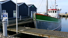 It´s early spring in Rungsted Harbor so many of the yachts are not in the water Stock Footage