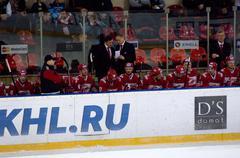 Spartak team bench Stock Photos