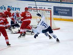 M. Fisenko (11) fall down Stock Photos