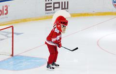 Mascot of the Spartak team on the gate Stock Photos