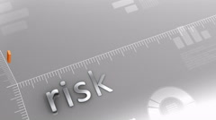 Risk decreasing chart, statistic and data Stock Footage