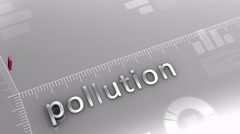 Pollution decreasing chart, statistic and data Stock Footage