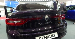 Serbia,Belgrade Car Motor Moto show March 2016 Renault Talisman Stock Footage