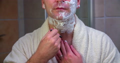 Shaving the neck Stock Footage