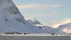 Flakstad village in the Lofoten Stock Footage