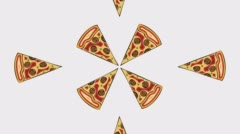 Modern pizza on white background. Animation with alpha channel Stock Footage