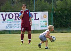 Growing football champion Stock Photos