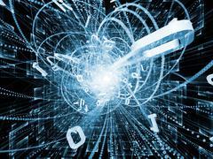 Digital Wave Particle Stock Illustration