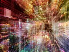 Virtual Technology - stock illustration