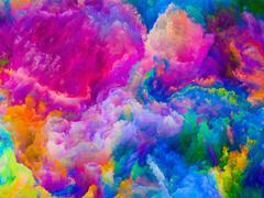 Inner Life of Colors - stock illustration
