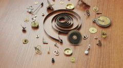 Mechanical clock parts Stock Footage