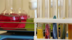 Colorful agar on the moving shaker background lockdown close up Stock Footage