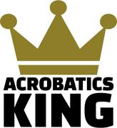 Acrobatics king - stock illustration
