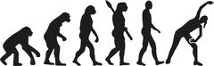 Aerobics Evolution - stock illustration