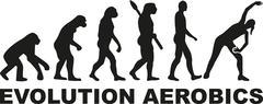 Evolution Aerobics - stock illustration