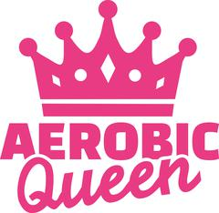 Aerobic queen - stock illustration