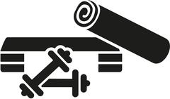Aerobics equipment - stock illustration
