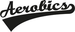 Aerobics word retro - stock illustration