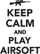 Stock Illustration of Keep calm and play airsoft